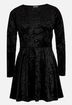 Rebel Republic - Velour Dress Black