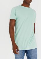 Brave Soul - Harrel Longer Length Cotton Tee Light Green