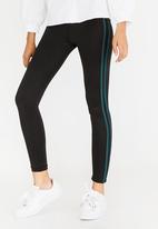 c(inch) - Side Stripe Leggings Black