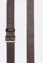 STYLE REPUBLIC - SR Nicotene Genuine Leather Belt Dark Brown