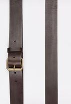 STYLE REPUBLIC - SR Genuine Leather Belt Dark Brown