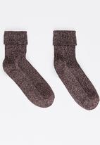 STYLE REPUBLIC - Glitter Lurex Socks Mid Pink