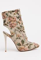Plum - Nightly Cut-Out Ankle Boots Neutral