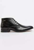 Gino Paoli - Plain Derby Lace Up Boot Black