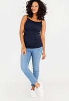 Cherry Melon - Basic Cami with Side Detail Navy