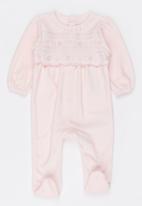MINOTI - Velour sleep suit - pink