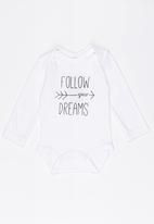 Funky Shop - Follow your dreams baby grow - white