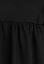 Rebel Republic - Cut & Sew Open Cardigan Black