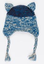 MINOTI - Raccoon Face Beanie with Ear Flaps Navy
