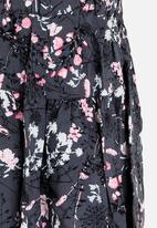 MINOTI - Floral Printed Culottes Black