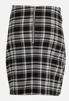 Rebel Republic - Front Tie Detail Skirt Black and White