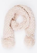 MINOTI - Pom Pom Knit Scarf Mid Pink