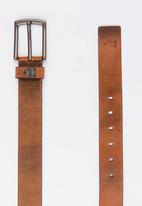 Polo Jeans Co. - Jake Casual Leather Belt Brown