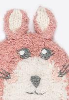 MINOTI - Bunny Face Beanie with Ear Flaps Mid Pink