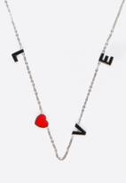 POP CANDY - Love Pendant Necklace Silver