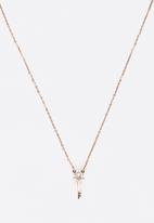 POP CANDY - Star Key Pendant Necklace Rose gold