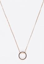 POP CANDY - Round Pendant Necklace Rose gold