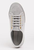 SUPERGA - Velvet Chenille Sneakers Pale Grey