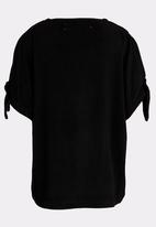 MINOTI - Tie Split Sleeve Top Black