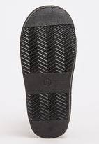 Foot Focus - Aztec Detailed Boots Black
