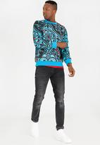 Butan - Mountain Panther Crew Neck Sweater Multi-colour