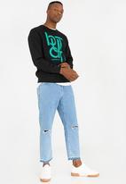 Butan - Connections Crew Neck Sweatshirt Black
