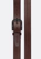 Pringle of Scotland - Clynt Leather Denim Belt Brown