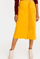 Thebe Magugu - Corduroy Wrap Skirt Yellow