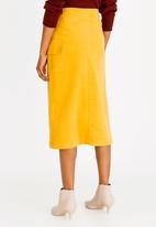 Thebe Magugu - Corduroy Wrap Skirt Yellow