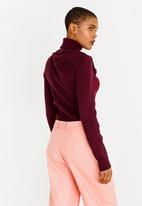 Thebe Magugu - Mesh Detail Top Burgundy