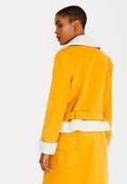 Thebe Magugu - Corduroy Biker Jacket Yellow