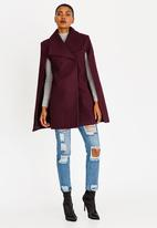 STYLE REPUBLIC - Melton Cape Burgundy
