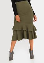 edit - Frilly Skirt Dark Green
