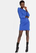 STYLE REPUBLIC - Drape Bodycon Dress Blue