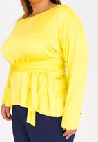 Leigh Schubert - Rushka Wrap Top Yellow