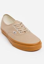 a862f59559bcb4 Authentic Gum Sole Canvas Sneakers Stone Vans Sneakers