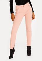 Sissy Boy - Girl Boss Skinny Trouser with Zip Detail Pale Pink