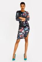 Sissy Boy - Ruched Midi Dress Black