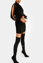 Sissy Boy - Turtle Neck Long Sleeve Dress Black