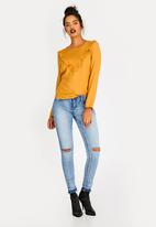 c(inch) - Frill Detail Blouse Yellow