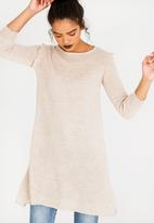 edit - Frilly Tunic Taupe