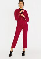 edit - Ankle Grazer Trousers Red