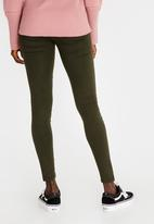 c(inch) - Quality Stretch Leggings Dark Green