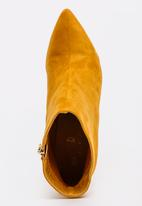 STYLE REPUBLIC - Suede-like Ankle Boots Yellow