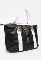 BLACKCHERRY - Tote Handbag Black and White