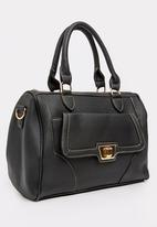 BLACKCHERRY - Tote Handbag With Front Pocket Black