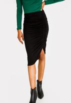 edit - Side Detail Pencil Skirt Black