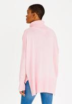 edit - Cowl Neck Hi-Low Jersey Mid Pink
