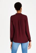 edit - Combo Long Sleeve Blouse Burgundy
