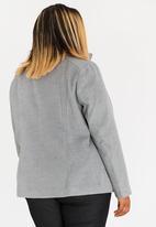 STYLE REPUBLIC PLUS - Minimalist Patch Pocket Coat Charcoal